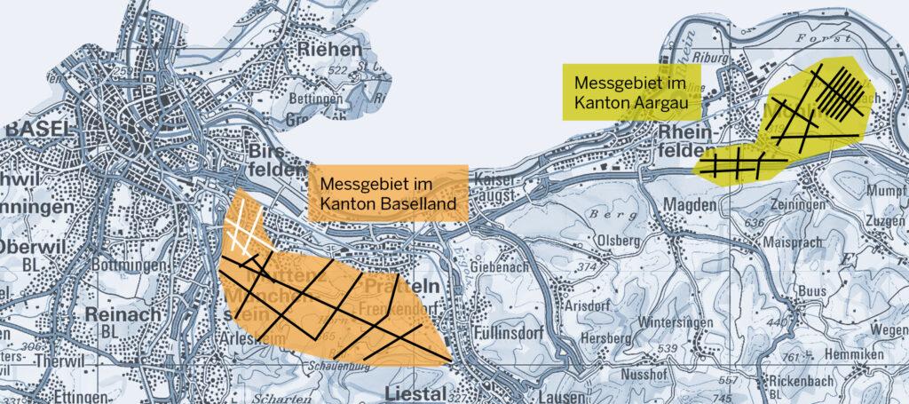 Karte seismische Messungen Schweizer Salinen